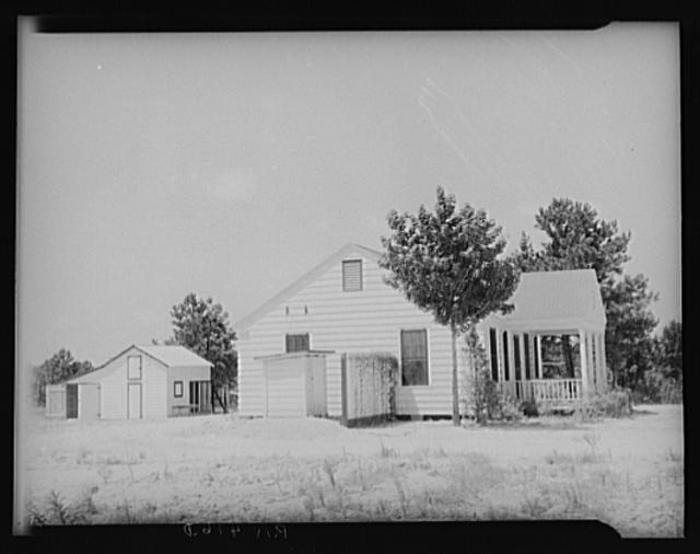 House and garage. Pike County, Mississippi. McComb Gardens