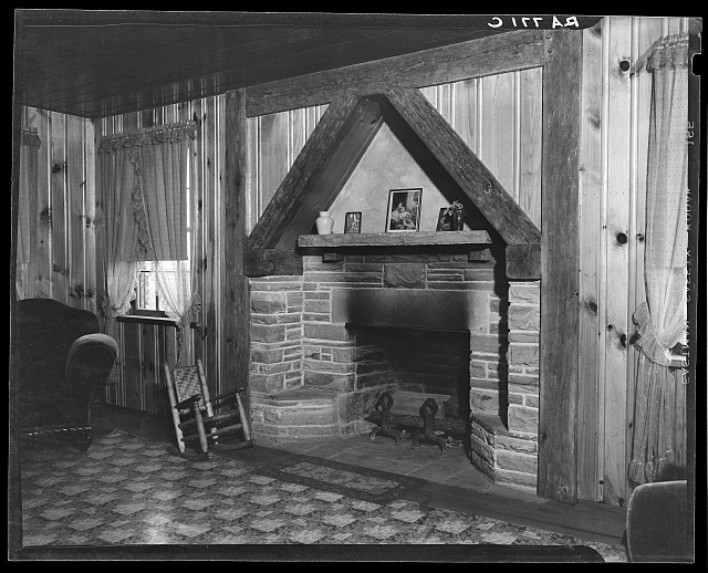 Interior of house at Crossville, Tennessee. Cumberland Homesteads