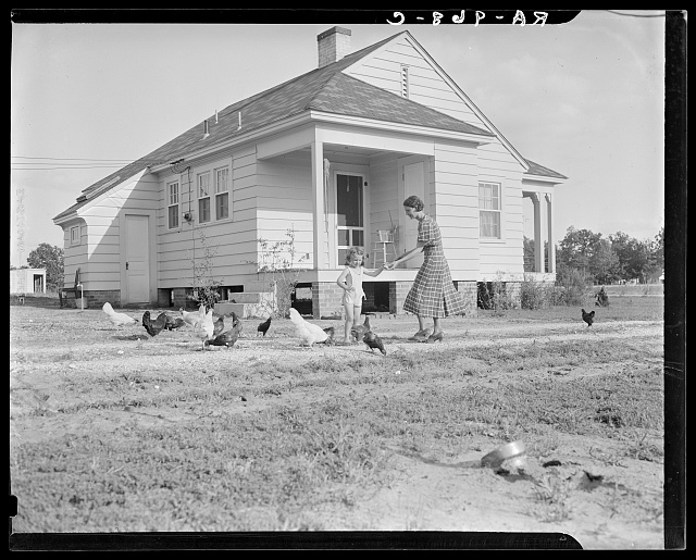 Homesteaders in front of their new house. Dallas, Texas