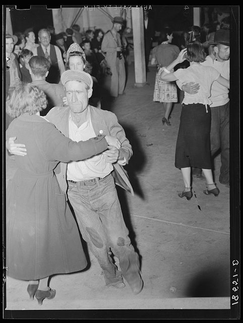 Halloween party at Shafter migrant camp, California
