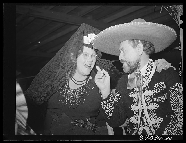 Brownsville, Texas. Charro Days fiesta. El Rancho Grande. The charro is a local restaurant keeper