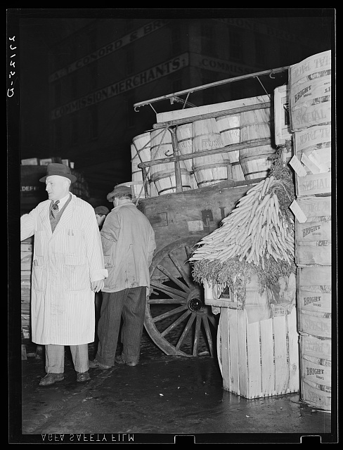 Commission merchant at Washington Market, New York City