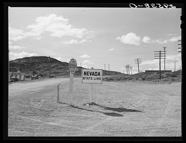 State line. Utah--Nevada