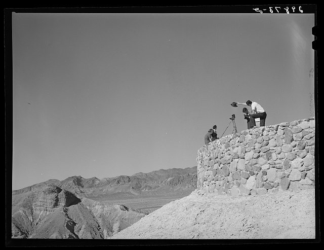 Tourists taking pictures. Death Valley, California