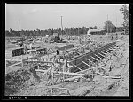 Construction of foundation for paper mill. Lufkin, Texas