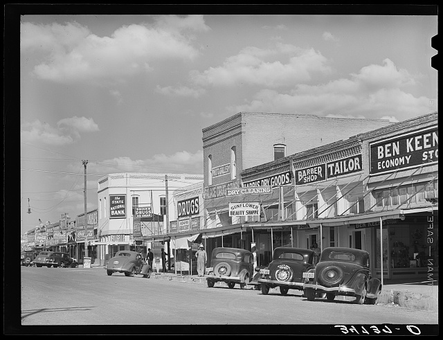 Main street. West, Texas