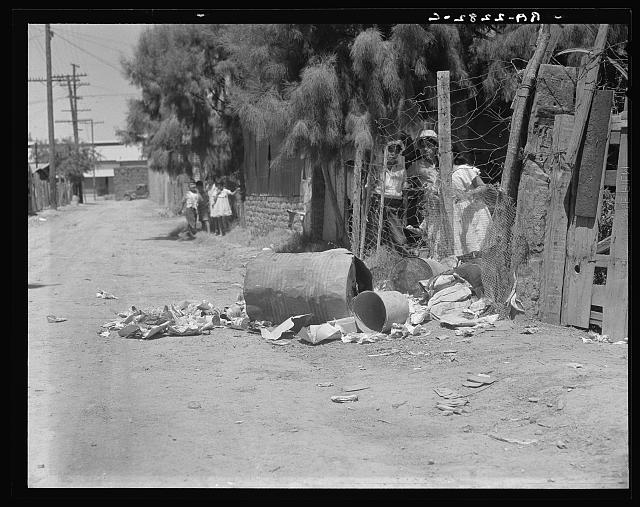 Garbage disposal. Brawley, Imperial Valley, California