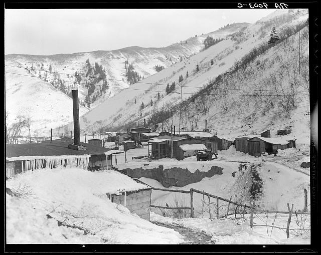 "Utah coal mining town. Consumers, near Price, Utah. ""Dumping grounds of the West"""
