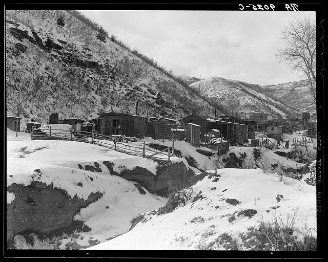 Utah coal miners' houses. Consumer, near Price, Utah. Blue Blaze mine
