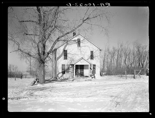 House for the married hired hand on the Harry Madsen farm. Three hundred sixty acres, near Dickens, Iowa. Operated by Mr. Madsen who is a very progressive owner