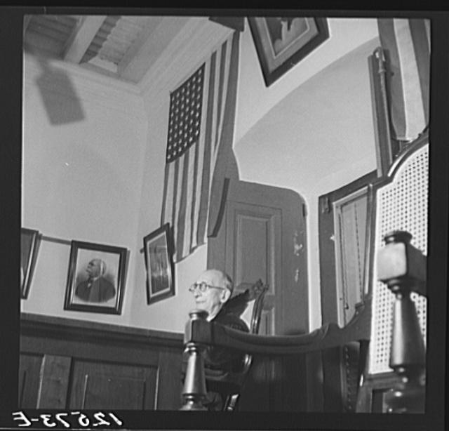 The judge during the trial of Nationalists. Ponce, Puerto Rico