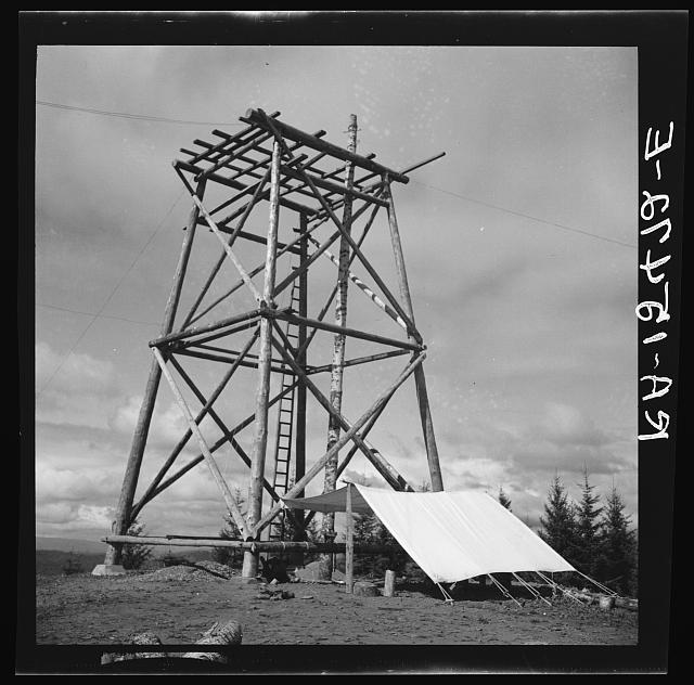 Framework being completed for fire lookout station on Oregon coast land use project