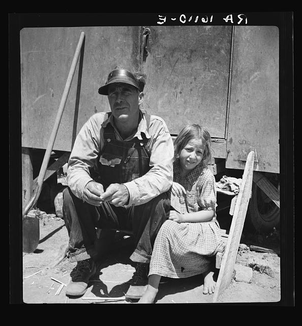 Drought Refugees in California Migrant Camp photographed by Dorothea Lange