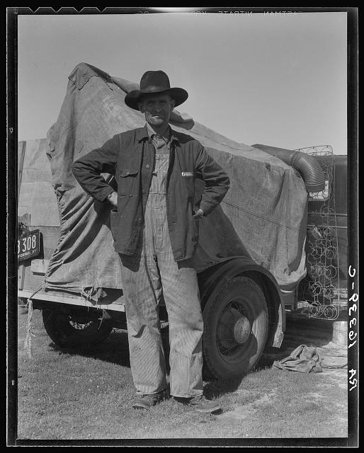 Texas ex-farmer, now a migratory agricultural worker in Nipomo, California