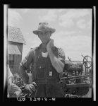 Former tenant farmer on a large cotton farm now a tractor driver for one dollar a day on same farm. Bell County, Texas