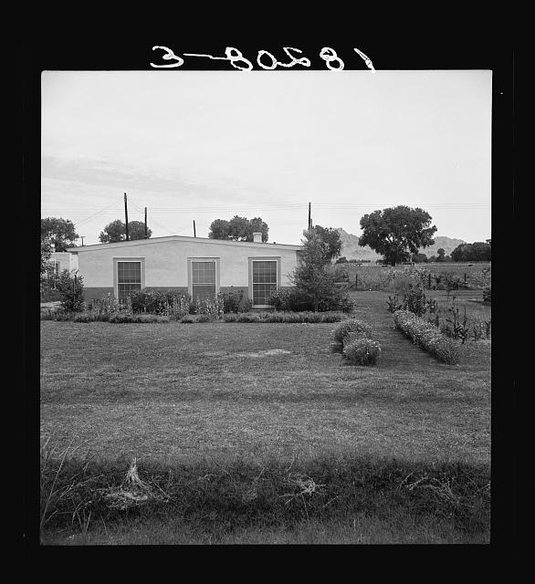 Baxter project, Farm Security Administration. One of the thirty-five homes of the part-time farms project near Baxter, Arizona