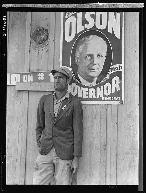 Migratory field worker, leader of the cotton strike of October 1938, which took place just before the election. Kern County, California