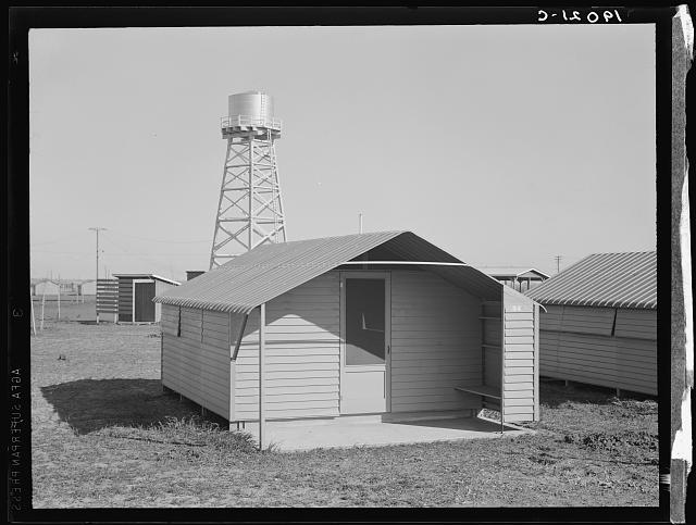Toilet facilities at Westley camp. California