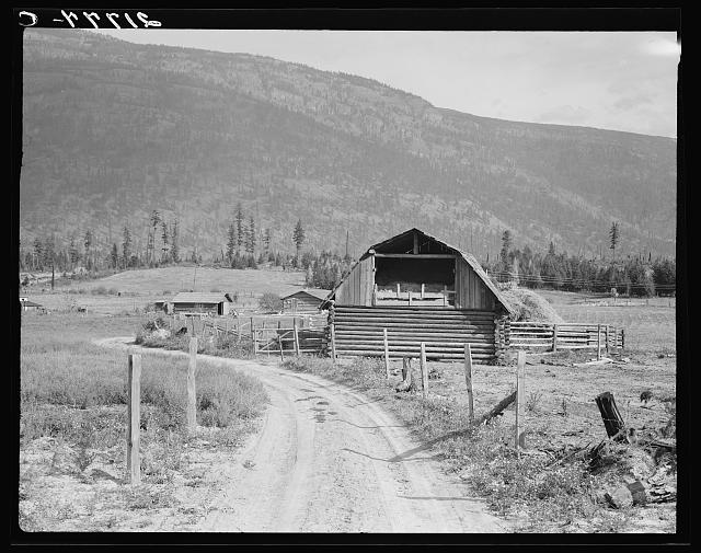 Farm of FSA (Farm Security Administration borrower). Land clearing loan. Boundary County, Idaho. See general caption 56