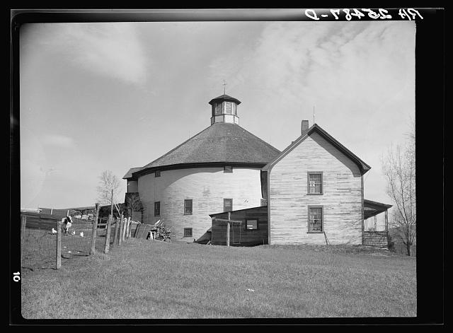 Farm with round barn. Caledonia County, Vermont