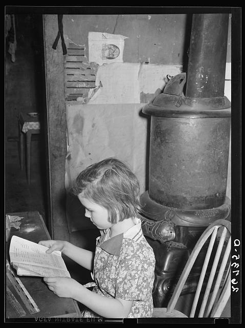 Daughter of WPA (Works Progress Administration) worker. Zeigler, Illinois