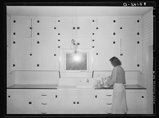 Kitchen of tenant purchase client. Hidalgo County, Texas