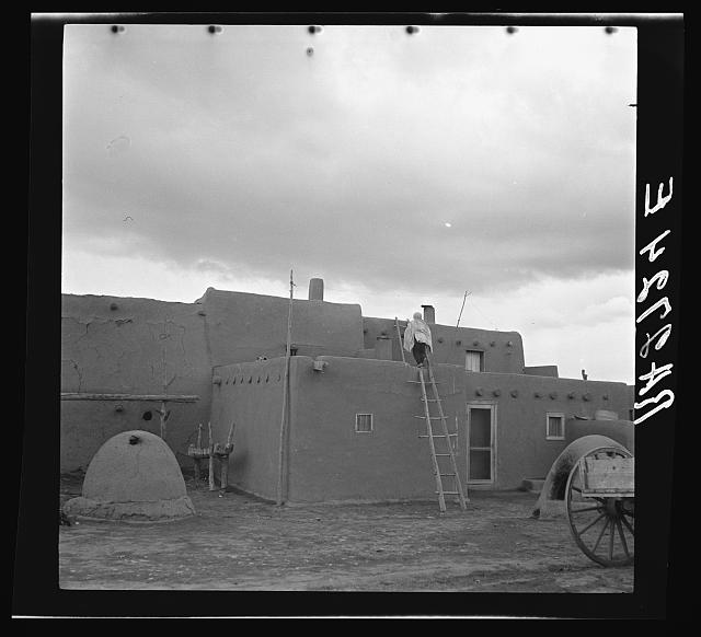 View of the pueblo of Taos, New Mexico