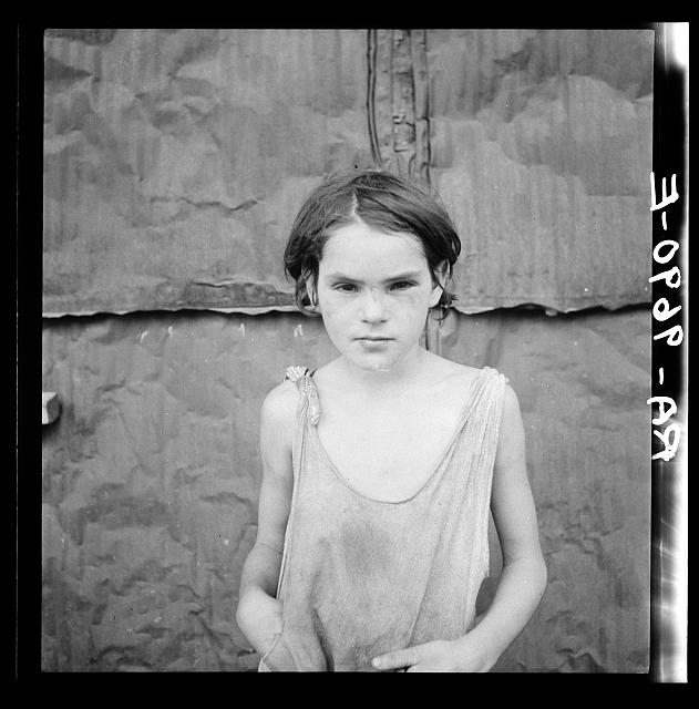 Child living in Oklahoma City shacktown
