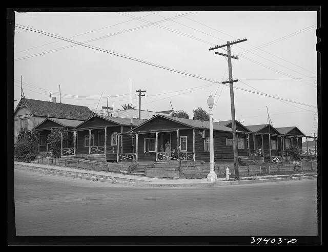 Group of houses rented to Mexicans. San Diego, California