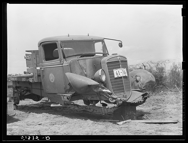 Truck for repairs on spare parts. FSA (Farm Security Administration) warehouse depot. Atlanta, Georgia