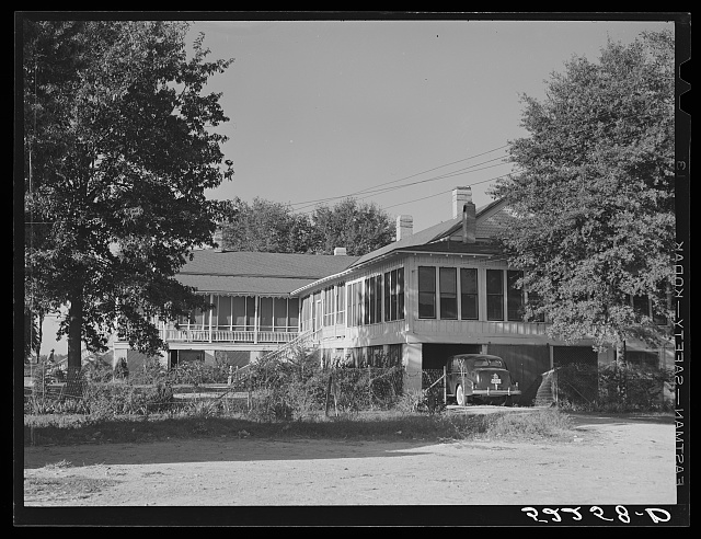 The Jones home. Marcella Plantation, Mileston, Mississippi Delta, Mississippi