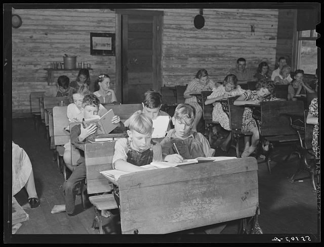 Overcrowded conditions in a rural school near Morehead, Kentucky