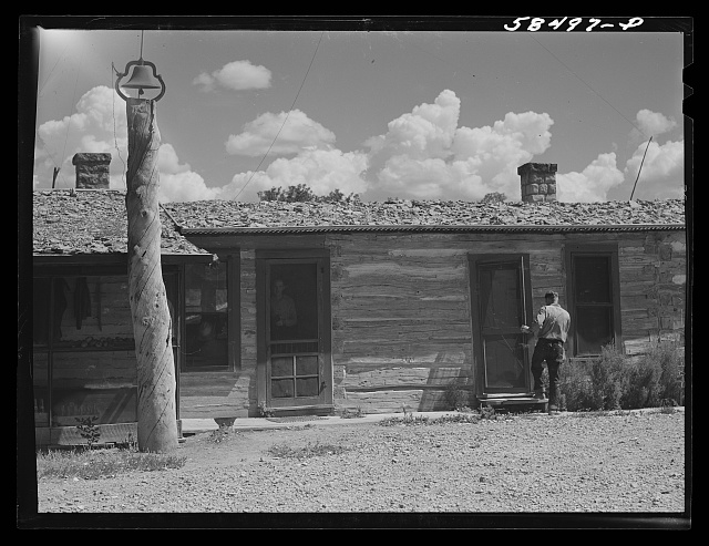 Old ranch house now cowboys' quarters at Quarter Circle U, Brewster-Arnold Ranch Company. Birney, Montana