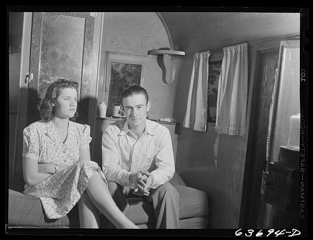 Mr. and Mrs. Wicks. Mr. Wicks is employed at the Ford bomber plant near Ypsilanti. They are from Flint, Michigan. They share a tent and a trailer with another family and single man in Edgewater Park near the bomber plant