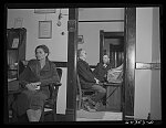 Oran, Missouri. Doctor's office and waiting room