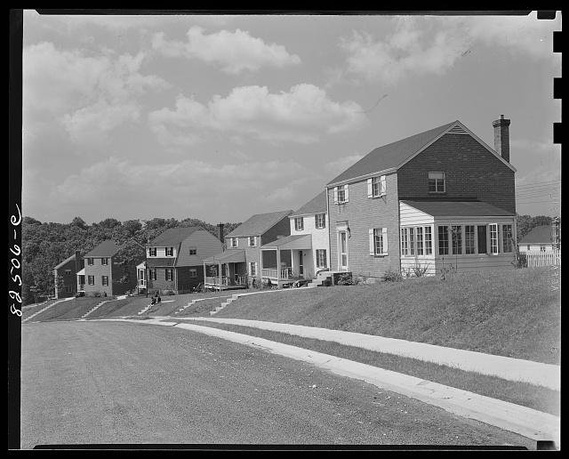 Arlington, Virginia. Subdivision under construction