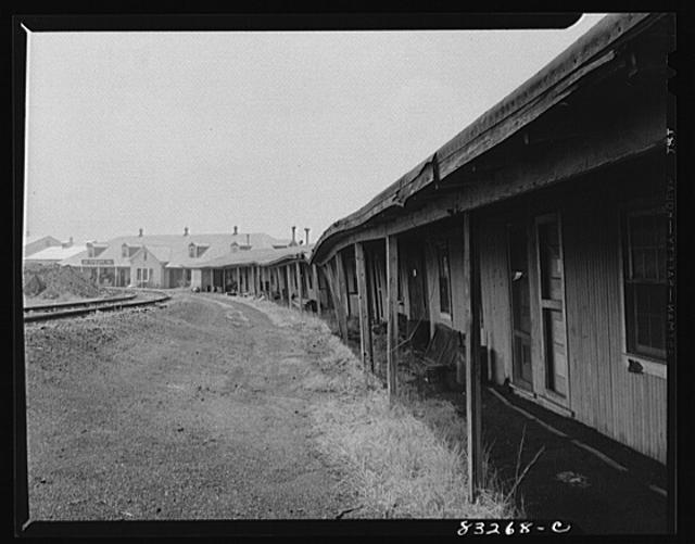 Bridgeton, New Jersey. Seabrook Farm. Condemned quarters built for migrants but now serving as storage bins