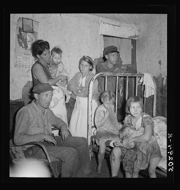 Coal miner and wife and children. He has been injured in mines four times.  Since last year, has been refused work, now is on relief. Pursglove, Scotts Run, West Virginia