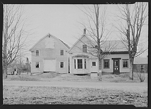 Front view of house and barn optioned for Resettlement Administration from Federal Land Bank. Winterport, Maine