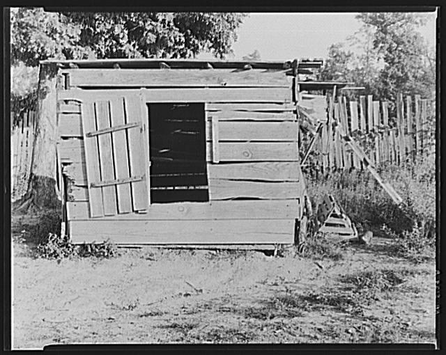 Chicken house of Floyd Burroughs, sharecropper. Hale County, Alabama