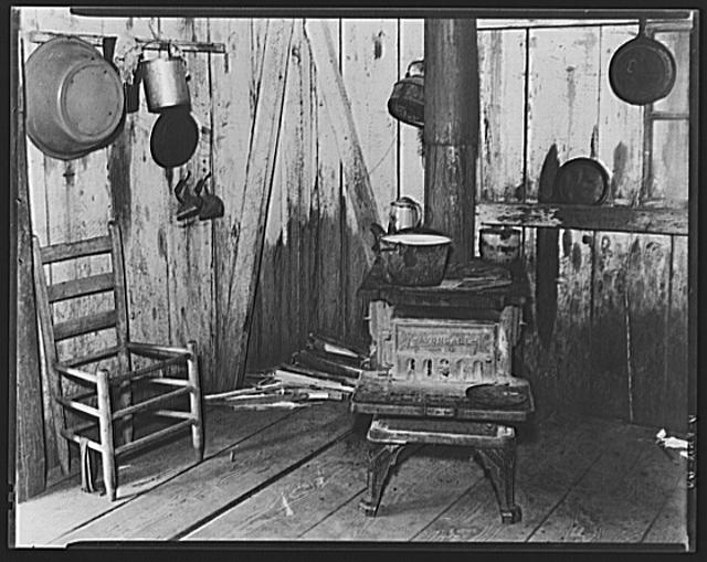 Corner of kitchen in Bud Fields' home. Hale County, Alabama