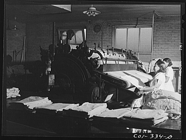 Chicago, Illinois. Provident Hospital. In the laundry