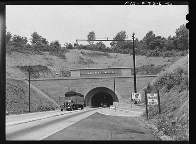 Pennsylvania Turnpike, Pennsylvania. Tunnel