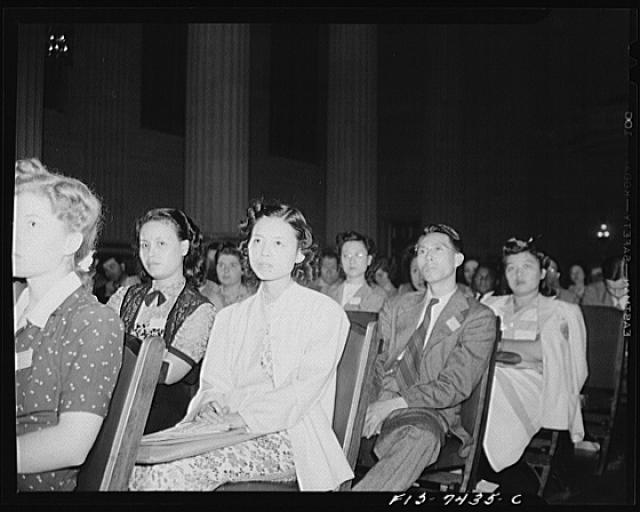 Washington, D.C. International student assembly. Chinese delegates at the assembly