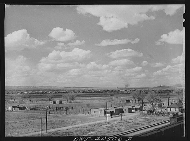 Belen, New Mexico. General view of the town
