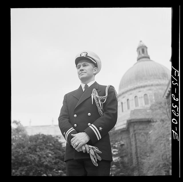 Annapolis, Maryland. Lieutenant K.K. Martineau, aide to the superintendent