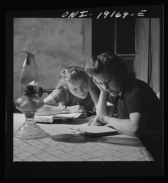 Moreno Valley, Colfax County, New Mexico. Homework on the Mutz ranch