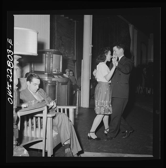 Washington, D.C. Dancing to the music of a juke box at the Walsh Club for federal employees