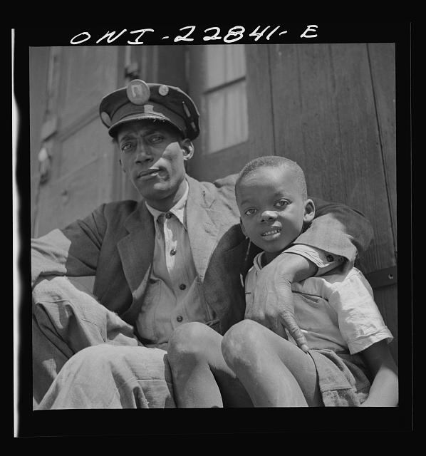 New Orleans, Louisiana. Negro dock worker and son