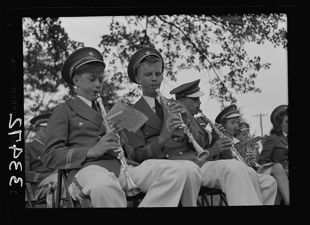 Keysville, Virginia. Randolph Henry High School. School band which played for graduation